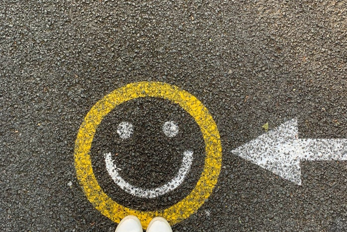 Smiley face on the street