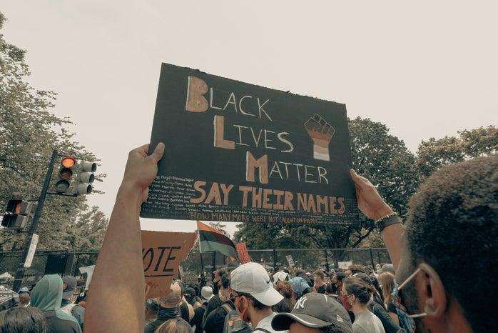 Black Lives Matter protest poster