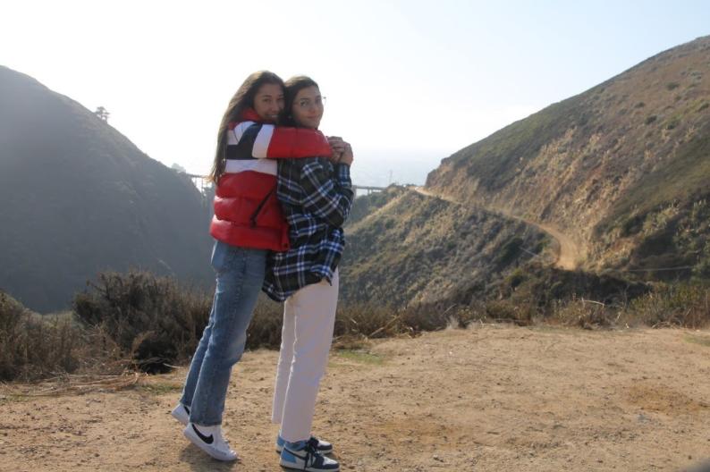 Nat Henriquez and her sister