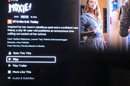"Netflix description and movie picture for the movie ""Moxie."""