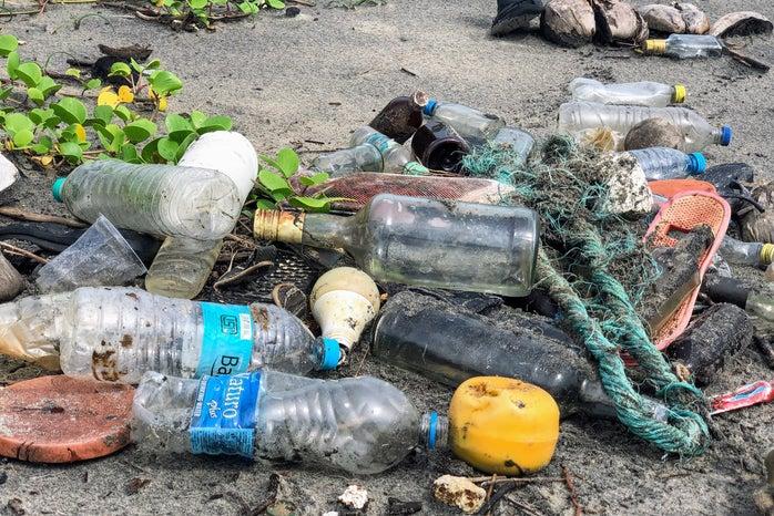 Trash, outdoors