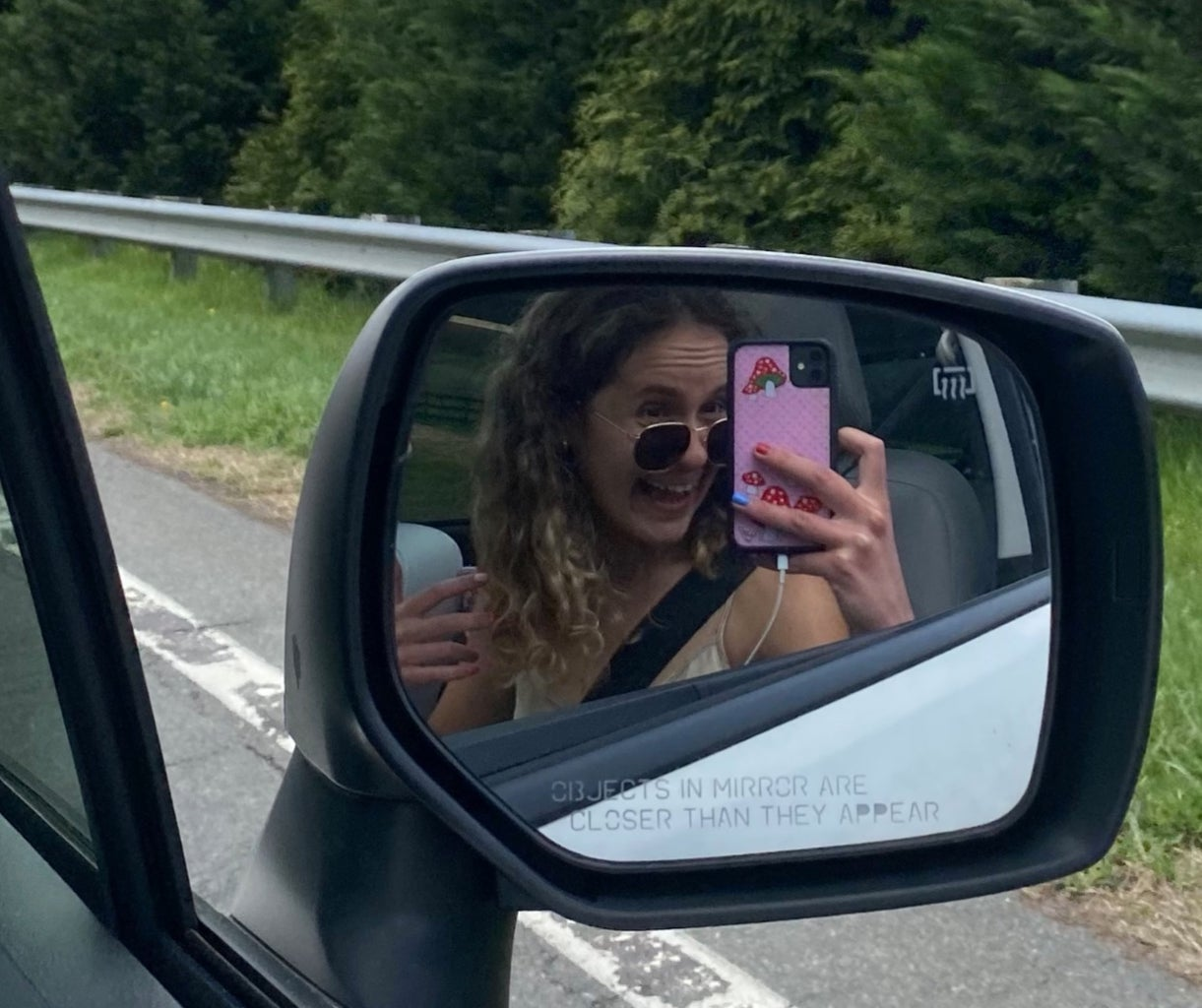 girl with cute phone case