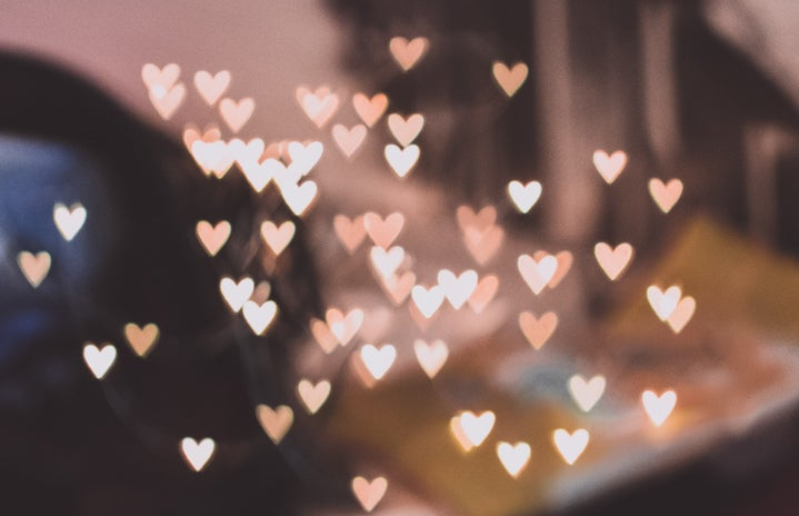 Pink Hearts Floating in Air
