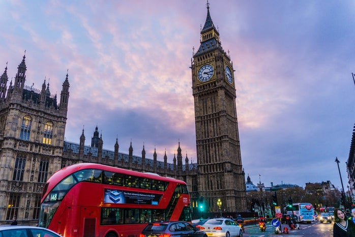 London and big ben at sunset