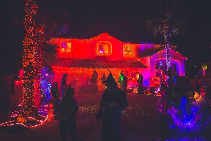 Neon House Halloween