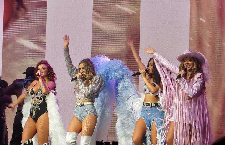 "Little Mix \""Glory Days\"" tour performance"