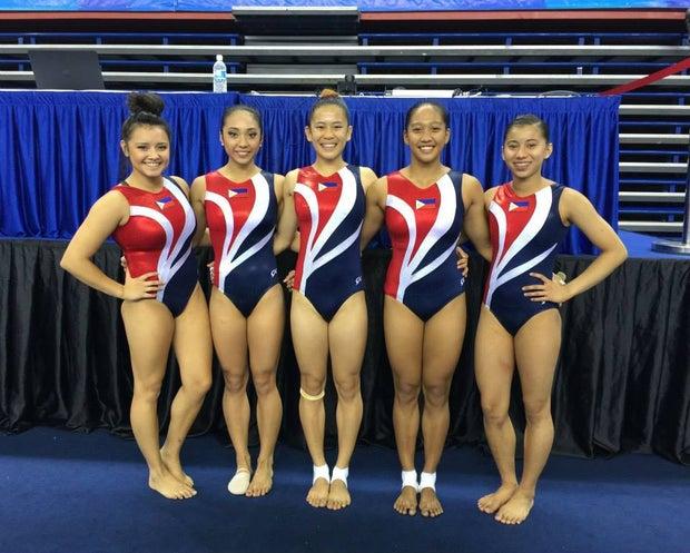 Sofia Gonzalez with Philippine Gymnastics National Team