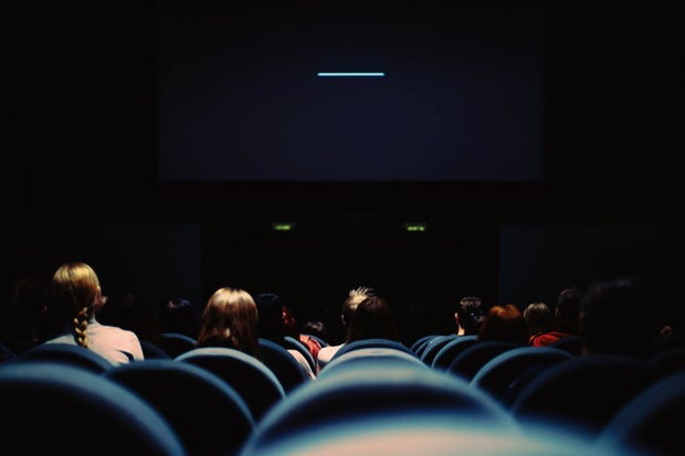 crowded movie theatre