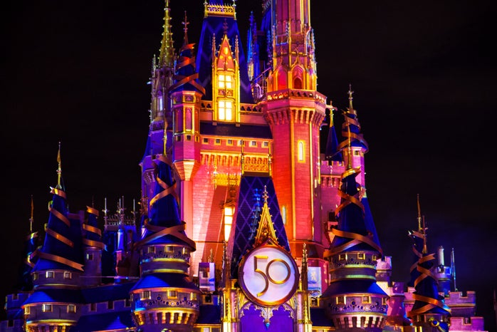 Disney World Cinderella Castle 50th anniversary