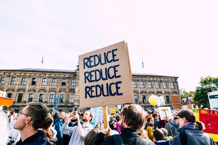 Climate Change poster - Reduce Reduce Reduce