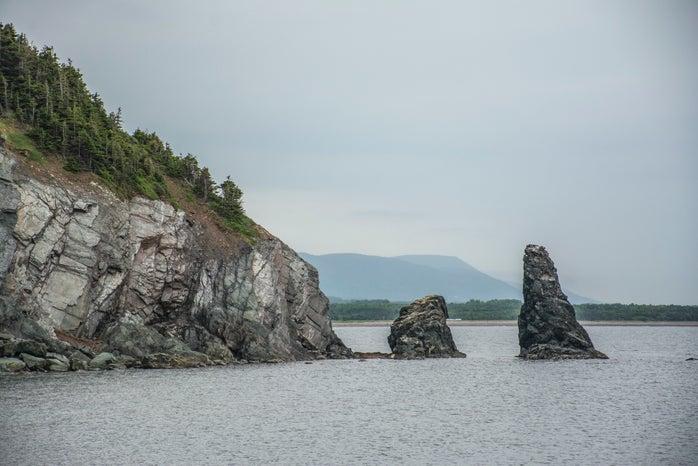 Skipping Rocks off the coast of Nova Scotia Canada
