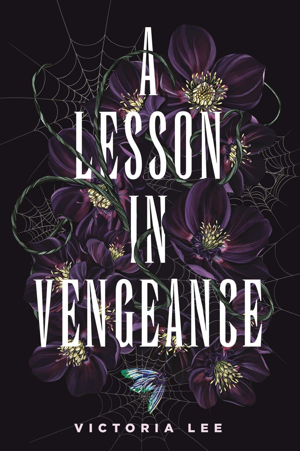 book cover of a lesson in vengeance by victoria lee