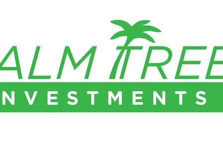 Palm tree investment logo