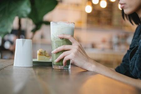 image of woman drinking tea