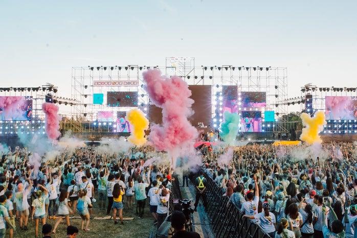 Music festival colorful